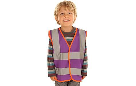 image of Edz Kidz Hi Visibility Vest For Kids, Purple, 2-3 Years