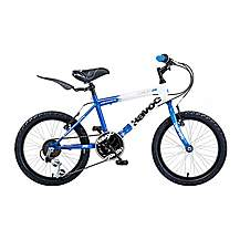 image of Concept Havoc Boys 18in Bike 6 Speed Blue/white