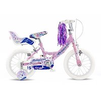 Concept Princess Girls Single Speed Bike 14in Pink