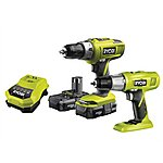image of Ryobi One+ Twin Pack 18 Volt 2 X 1.3 Ah Li-ion