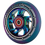 image of Team Dogz 100mm Alloy Rainbow Wheels - Purple & Blue Mixed 88a Pu