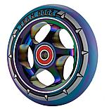 Team Dogz 110mm Alloy Rainbow Wheels - Purple & Blue Mixed 88a Pu
