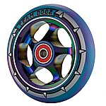 image of Team Dogz 110mm Alloy Rainbow Wheels - Purple & Blue Mixed 88a Pu