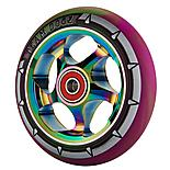Team Dogz 110mm Alloy Rainbow Wheels - Purple & Green Mixed 88a Pu