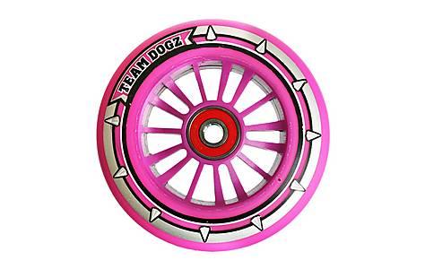 image of Team Dogz 100mm Nylon Wheels - Pink Core Pink Pu