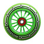 image of Team Dogz 100mm Nylon Wheels - Green Core Green Pu