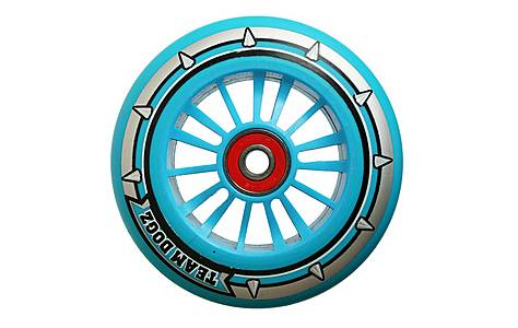 image of Team Dogz 100mm Nylon Wheels - Blue Core Blue Pu