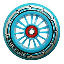 image of Team Dogz 100mm Nylon Wheels - Blue Core Blue Pu