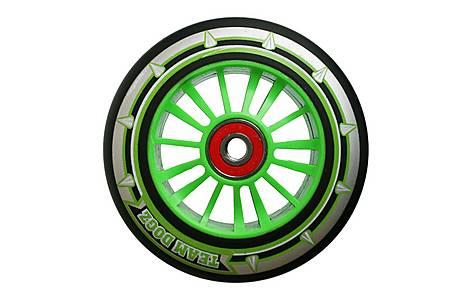 image of Team Dogz 100mm Nylon Wheels - Green Core Black Pu