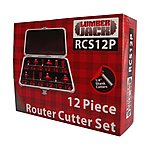 image of Lumberjack Rcs12p 12 Piece 1/4 Inch Router Cutter Set
