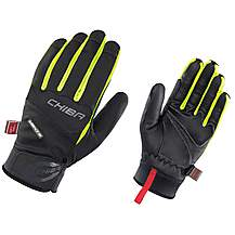 image of Chiba Tour Plus Windstopper Glove In Black/neon Yellow - Medium