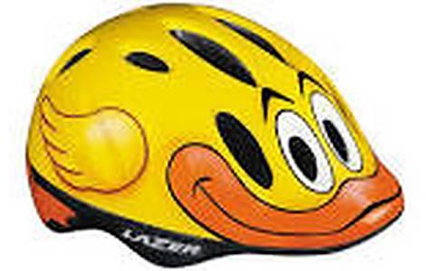 image of Lazer Max Quack Yellow Childrens Unisize Helmet 49 To 55cm