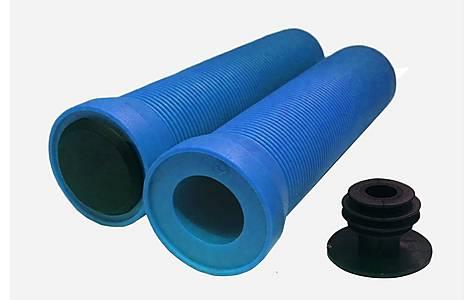 image of Flangeless Handlebar Grips - Blue