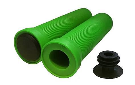 image of Flangeless Handlebar Grips - Green