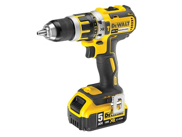 DEWALT DCD795P2 XR Compact Brushless Hammer Drill Driver 18 Volt 2 x 5.0Ah Li-Ion lowest price