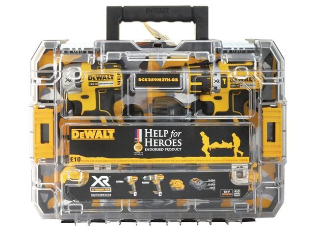 DEWALT Help For Heroes Brushless Twin Pack 18 Volt 2 x 4.0Ah Li-Ion lowest price