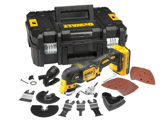 DeWalt DCS355 18v XR Cordless Multi Tool 2 x 2ah Li-ion Charger Case & Accessories lowest price