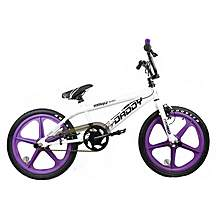 image of Rooster Big Daddy BMX Bike 20in Purple/white Mag Gyro