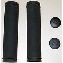 image of Acor Solid Kraton Mtb Handlebar Grips. Black.