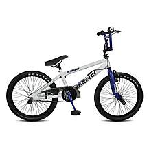 image of Rooster No Mercy 18inch Spoke White/blue Bmx Freestyler Bike