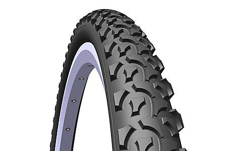 image of Rubena Rapid Pram & Stroller Tyre, 16 X 1, 75 X 2 (47-305), Black