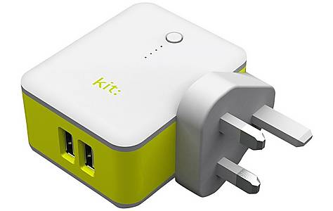 image of 2in1 Travel Charger With Power Bank 3,000 Mah