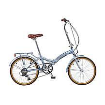 image of Viking Easy Street 6 Speed Folding Bike Silver 13in