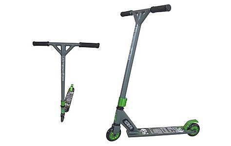 image of Tribe Pro Extreme Freestyle Trick Scooter, Grey & Green