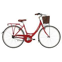 "image of Kingston Mayfair, Traditional Shopper Bike, 3 Speed, Ladies, Red, 16"""