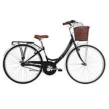 "image of Kingston Mayfair, Traditional Shopper Bike, 3 Speed, Ladies, Black, 16"""