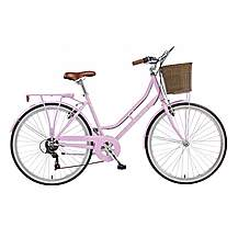 image of 16in Viking Belgravia, 6 Speed, 26in Wheel Ladies Classic Style Bike, Pastel Pink