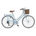 image of 18in Viking Belgravia, 6 Speed, 26in Wheel Ladies Classic Style Bike, Blue