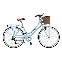 image of 18in Viking Belgravia, 6 Speed, 26in Wheel Ladies Classic Style Bike, Blue
