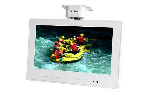image of Caravan Under Cabinet 10.2in Flip Down Tv With Pvr - Visua Vsltv102 - White