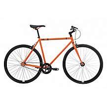 image of Feral Fixie, Single Speed, Fixed Gear Bike, Orange, 52cm