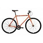image of Feral Fixie, Single Speed, Fixed Gear Bike, Orange, 59cm