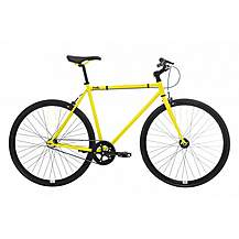 image of Feral Fixie, Single Speed, Fixed Gear Bike, Yellow, 52cm
