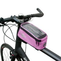 Btr Bicycle Frame Bag With Mobile Phone Pocket, Pink