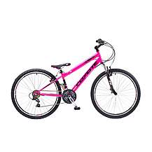image of Coyote Psycho 18 Speed Dirt Jump Suspension Mountain Bike Pink 13in