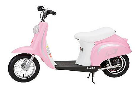 image of Razor Pocket Mod Electric Ride On Moped Bella Pink