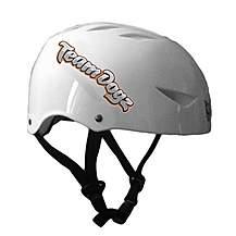 image of Team Dogz Scooter Protective Crash Helmet - White Medium