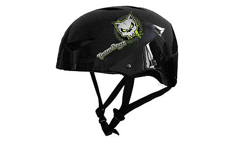 image of Team Dogz Scooter Protective Crash Helmet - Black Small