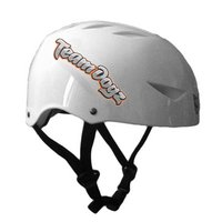 Team Dogz Scooter Protective Crash Helmet - White Small