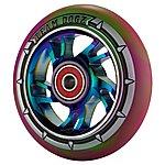 image of Team Dogz 100mm Alloy Rainbow Wheels - Purple & Green Mixed 88a Pu