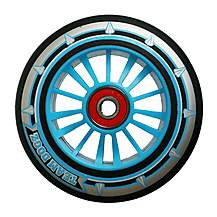 image of Team Dogz 100mm Nylon Wheels - Blue Core Black Pu