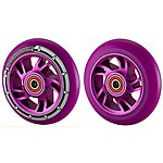 image of Team Dogz 100mm Alloy Swirl Wheels - Purple Core Purple Pu
