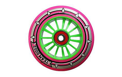 image of Team Dogz 100mm Nylon Wheels - Green Core Pink Pu