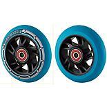 Team Dogz 100mm Alloy Swirl Wheels - Black Core Blue Pu