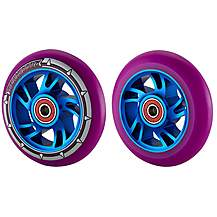 image of Team Dogz 100mm Alloy Swirl Wheels - Blue Core Purple Pu