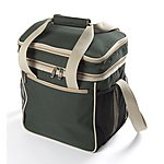 image of Greenfield Collection Luxury 18L Lightweight Cool Bag in Forest Green